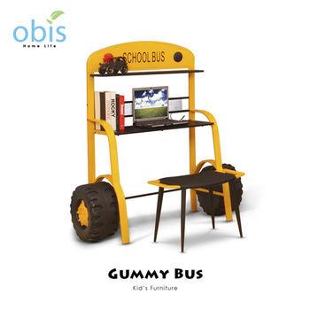 【obis】Kids Neverland 兒童書桌椅組-阿甘巴士