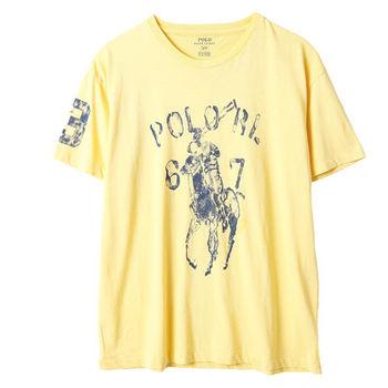 Ralph Lauren 馬球3號圓領短袖T恤經典款 黃(S-XL)