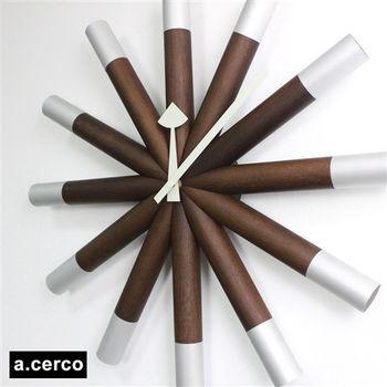 【a.cerco】經典木製厚實舵輪掛鐘