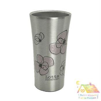 兩層構造 斷熱杯 300ML ( 粉紅花 ) / 保溫 保冷