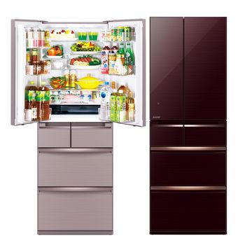 【MITSUBISHI 三菱】525L日本原裝變頻六門電冰箱MR-WX53Y