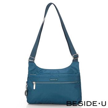 BESIDE-U - CREED系列淘氣粉嫩方型隨身肩背包 - 土耳其藍