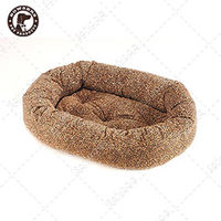 ~BOWSERS~甜甜圈極適寵物床 ^#40 迷你豹紋 ^#45 M ^#41
