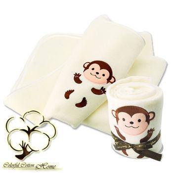 【采棉居寢飾文化館】猴子造型毯