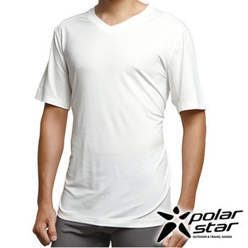 PolarStar 男排汗快乾T恤『白』P15137  休閒|居家|戶外|運動|內搭|T恤