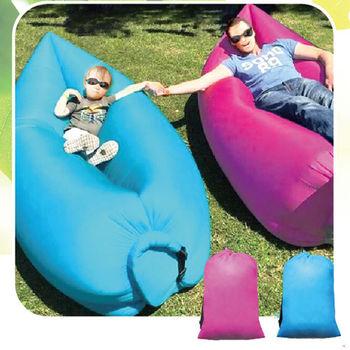 【AKWTAKE】攜帶式空氣沙發懶人床2入