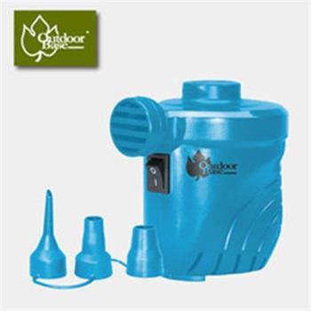 【Outdoorbase】颶風充氣馬達 (PSI出氣量UP。充氣床馬達。可充氣及洩氣。電動充氣幫浦 )藍-28262