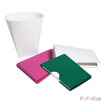 【FOFOCUP】台灣製造創意可摺疊8oz折折杯(粉+綠)-各一入  創意設計