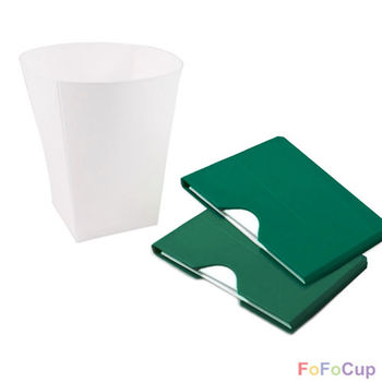 【FOFOCUP】台灣製造創意可摺疊8oz折折杯(綠色)-2入  創意設計