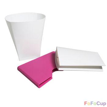 【FOFOCUP】台灣製造創意可摺疊8oz折折杯(粉色)-2入  創意設計