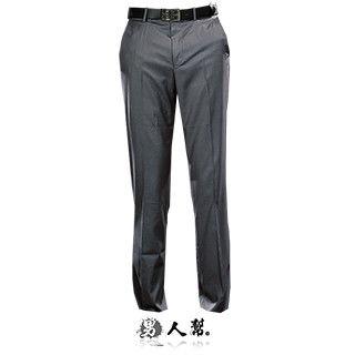 【男人幫】雅痞型男成熟風灰色條紋西裝褲(K0425)