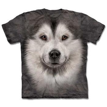 『摩達客』(預購)美國進口【The Mountain】自然純棉系列 哈士奇雪橇犬臉 T恤