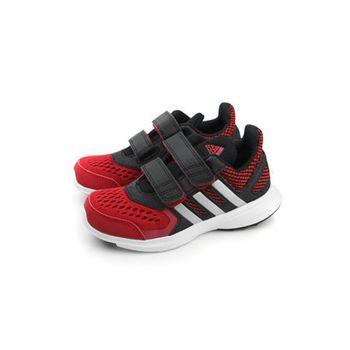 adidas hyperfast 2.0 cf k 跑鞋 兩個魔鬼氈 黑紅 童 no300