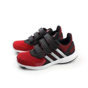 adidas hyperfast 2.0 cf k 跑鞋 三個魔鬼氈 黑紅 童 no300