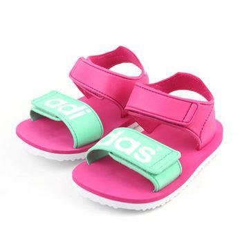 adidas BEACH SANDAL I 涼鞋 桃紅 小童 no272