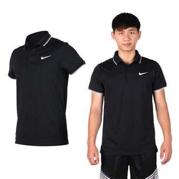 【NIKE】男翻領短袖POLO針織衫 -短T 高爾夫 黑白
