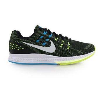 【NIKE】AIR ZOOM STRUCTURE 19 男慢跑鞋- 路跑 黑綠藍