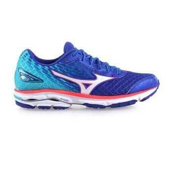 【MIZUNO】WIDE WAVE RIDER 19女慢跑鞋 - 路跑 藍橘
