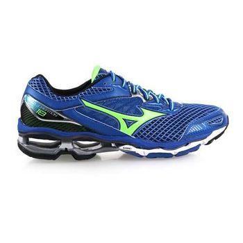 【MIZUNO】WAVE CREATION 18 男慢跑鞋- 路跑 美津濃 藍綠