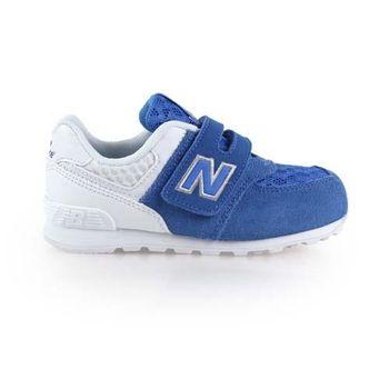【NEWBALANCE】574 男女兒童復古休閒鞋-WIDE- NB 寬楦 藍白