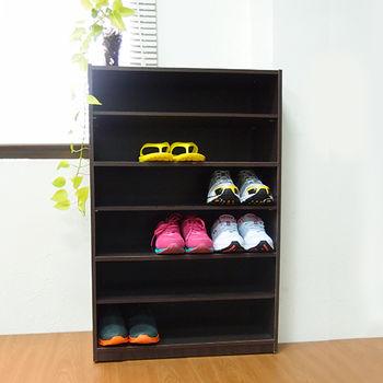 【樂活玩家】六層鞋櫃/胡桃色 60x30x90 cm