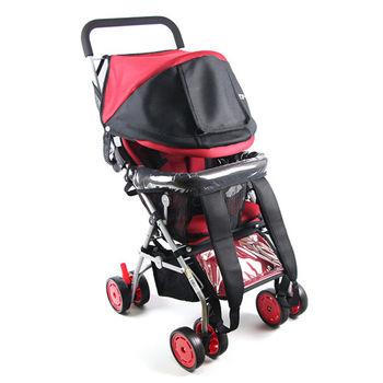 Yip Baby 五點式多功能揹架推車-紅色
