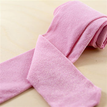【公主童襪Princesstights】珍珠粉紅蔥兒童褲襪(0-12歲)
