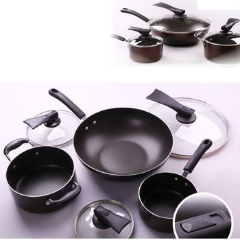 【ASD愛仕達】鍋具三件套裝組1組,內含:32cm炒鍋+16cm小湯鍋+20cm大湯鍋(皆附鍋蓋)