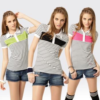 【SAMLIX山力士】女款 MIT 台灣製 吸濕排汗 涼爽紗 短袖 POLO衫#SP208(綠色.桃紅.黑色)
