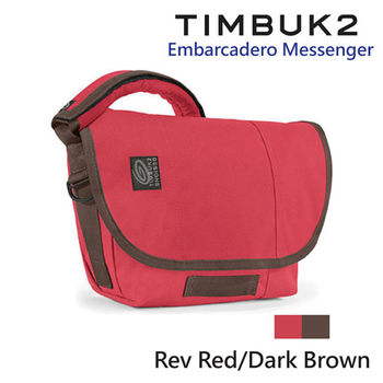 【美國Timbuk2】Embarcadero Messenger 郵差包-Rev red/Dark Brown-XS