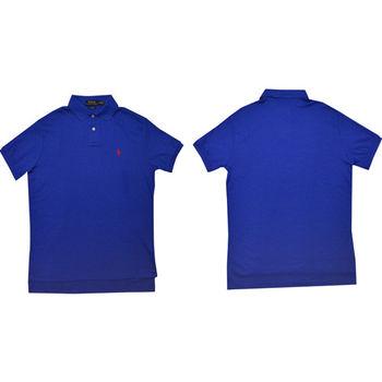 Ralph Lauren 經典戰馬短袖POLO衫 (青)