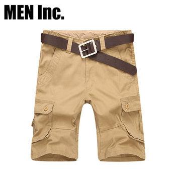 Men Inc.「陽光型男」美軍經典戶外休閒短褲 (卡其色)