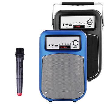 大聲公晶鑽型無線式多功能行動音箱/喇叭 (單麥克風組)