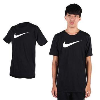 【NIKE】男短袖針織衫-T恤 慢跑 路跑 短T 黑白