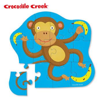 【美國Crocodile Creek】迷你造型拼圖系列-淘氣小猴