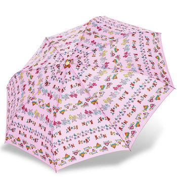 rainstory雨傘-長壽烏龜(粉)抗UV個人自動傘