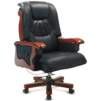 【椅吧】沉穩舒適半牛皮主管椅