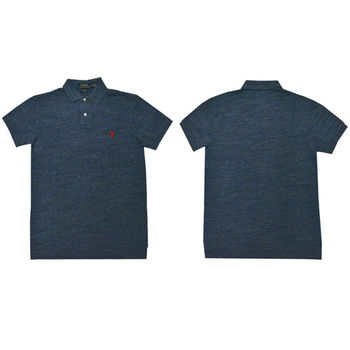 Ralph Lauren 經典戰馬短袖POLO衫 (藍灰)