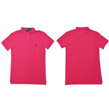 Ralph Lauren 經典戰馬短袖POLO衫 (桃紅)
