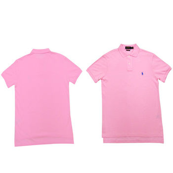 Ralph Lauren 經典戰馬短袖POLO衫 (粉)