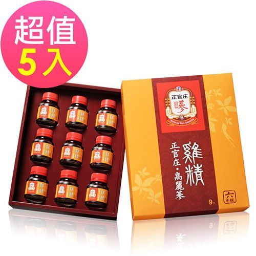 【正官庄】高麗蔘雞精 (9瓶/盒)x5盒