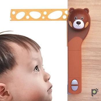 【熊熊 1+1超值組】活動式創意電動身高尺/身高測量器+九州熊本雙層隔熱玻璃瓶 300ml 水筒X1