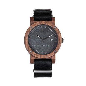 Plantwear 歐洲手工製實木手錶-Raw series-沉穩灰-玫瑰木(42mm)