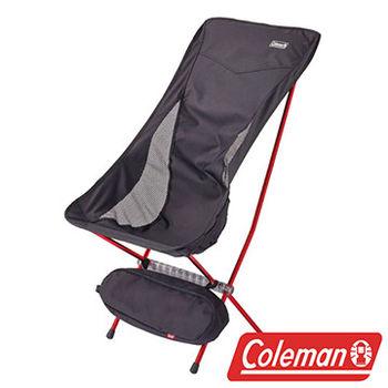 Coleman LEAF高背椅/黑 超輕鋁合金折疊月亮椅 CM-26741  摺疊椅|休閒椅|折合椅
