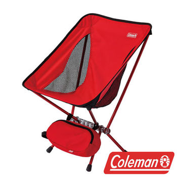 Coleman LEAF隨行椅/紅 超輕鋁合金折疊月亮椅 CM-27854  摺疊椅|休閒椅|折合椅