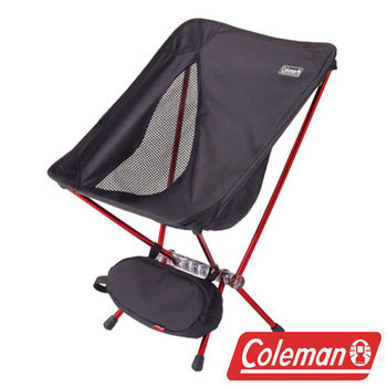 Coleman LEAF隨行椅/黑 超輕鋁合金折疊月亮椅 CM-27855  摺疊椅|休閒椅|折合椅