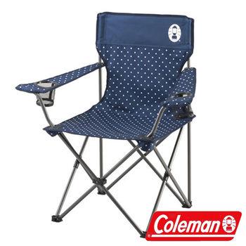 Coleman 圓點海軍藍渡假休閒椅/CM-26736  折疊椅|休閒|露營|戶外