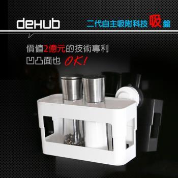 DeHUB 二代超級吸盤 置物架(白)