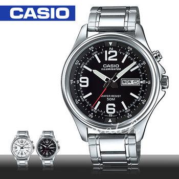 【CASIO 卡西歐】日系 商務型石英不鏽鋼 男錶(MTP-E201D)