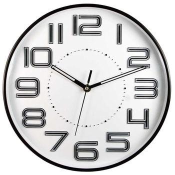 NAKAY立體數字12吋靜音掛鐘(NCL-37)